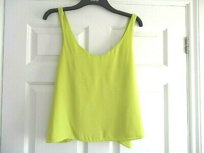 River Island Top Vest Cami Lime Size 10 Bnwot Ladies Girls Summer Holiday
