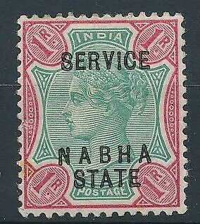 [59210] India Nabah State Official good MH Very Fine stamp $40