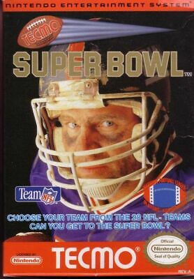 Tecmo Super Bowl Nintendo Nes Cleaned & Tested Authentic