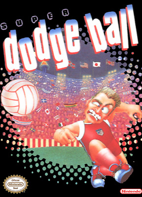 Super Dodge Ball Nintendo Nes Cleaned & Tested Authentic
