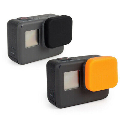 Silicone Lens Cover Protective Cap For Gopro Hero 7/6/5 Black/Orange Tool Parts