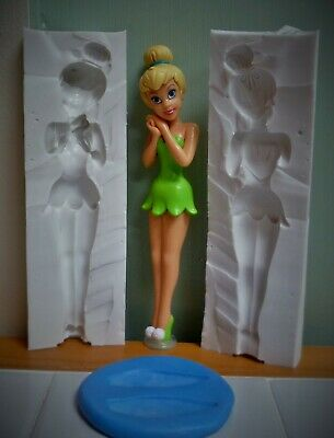 3d TINKERBELL SILICONE MOULD FOR CAKE TOPPERS, CHOCOLATE, CLAY ETC