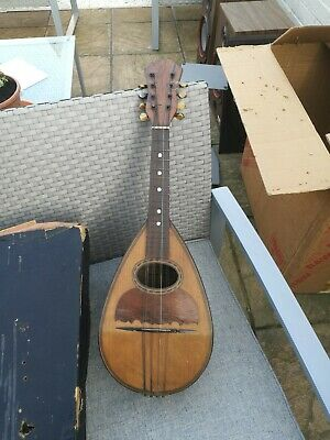 Antique Italian Mandolin 8 String c. Late 19th Century Domenico Zanoni Napoli