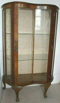 Lovely Art Deco Glass Fronted Display Cabinet / Cupboard