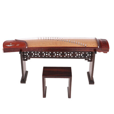 MagiDeal 1/6 Action Figure Dolls Accessories Rosewood Chinese Zither Model