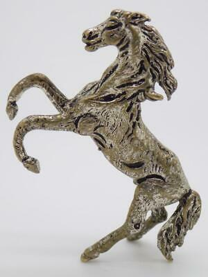 Vintage Silver Plated Italian Made Prancing Horse Figurine, Miniature