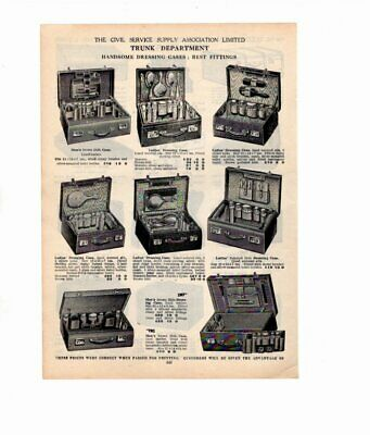 1926 Vintage Advert DRESSING CASES / TRUNKS & SUIT CASES  Double Sided