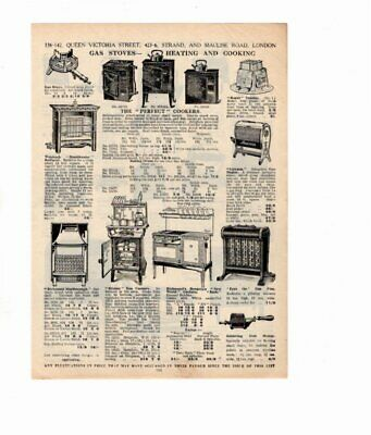 1926 Vintage Advert GAS STOVES / ELECTRIC FIRES KETTLES IRONS Double Sided
