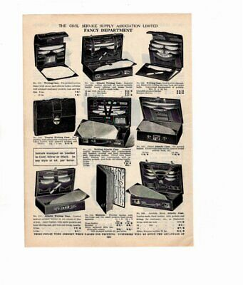 1926 Vintage Advert WRITING CASES / JEWEL CASES, WALLETS Double Sided