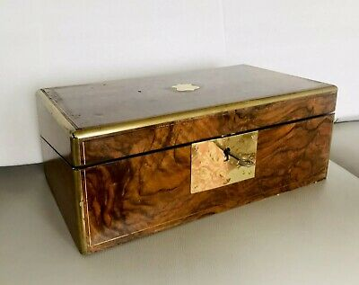 Antique Bespoke Travel Writing Bureau 1900's Mahogany Veneer, Unusual Piece