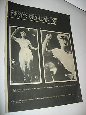 Vintage David Bowie Gene Simmons KISS Magazine Clip ONE PAGE ONLY FREE shipping