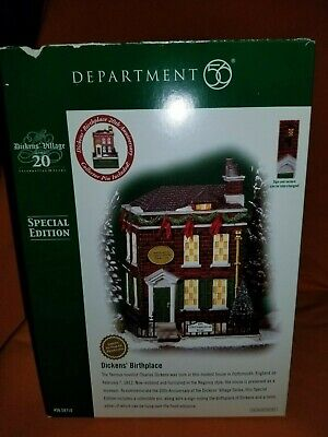 Dickens Birthplace SE Lighted Dickens Village HERITAGE COLLECTION Dept. 56 MINT