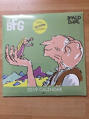 New And Sealed, Roald Dahl The BFG 2019 Calendar with Stickers