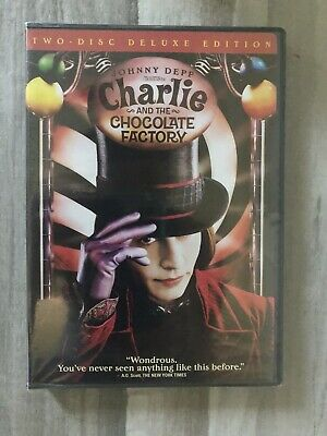 Charlie and the Chocolate Factory (DVD) 2-Disc Edition! Johnny Depp, NEW Sealed