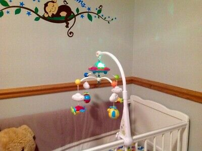 Baby Musical Crib Bed Cot Mobile