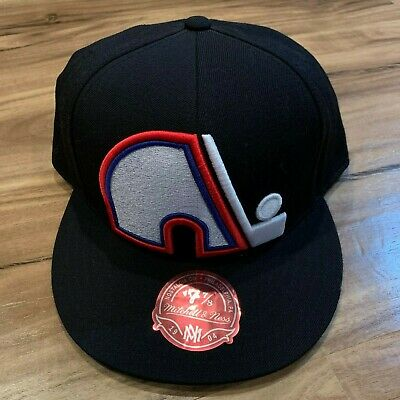 quality design e1957 7e801 NHL Quebec Nordiques Mitchell   Ness Vintage Wool Black Fitted Cap