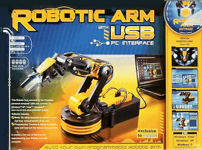 Build Your Own Robotic Arm with USB PC Interface - BNIB