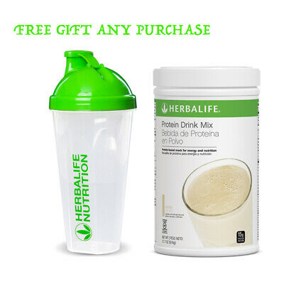 NEW 1X HERBALIFE 616g PROTEIN DRINK MIX All Flavors! + Free Shaker Cup