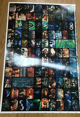 1995 Australia Dynamic Batman Forever Movie Cards Base Set Uncut Sheet (110)Rare