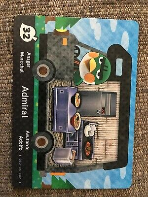 ADMIRAL #32 Series 5 Animal Crossing New Leaf Welcome Amiibo Card