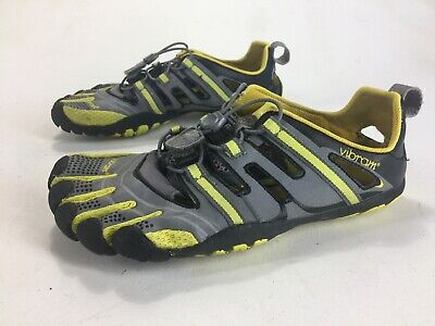 461247fae6 Mens Vibram Five Fingers Treksport Hiking Sandal Shoes Black Grey Yellow  Size 41
