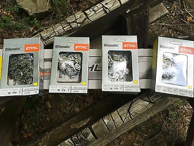1 New Stihl  ES Pro Chainsaw Bar Plus 4 RSF 20 In 72 Link Skip Chains  Yellow