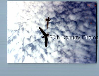 Found Color Photo E_2146 Abstract View Of Birds In Flight,Clouds