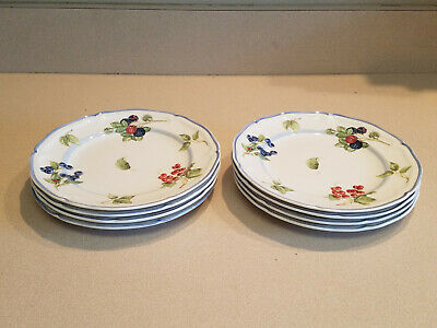 "Set of 8 Villeroy & Boch 1748 ""Cottage"" Design Salad Plates Made In Germany"
