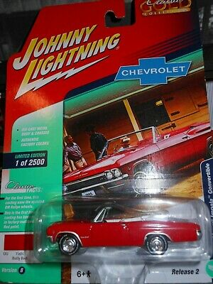 1965 Chevy Impala Convertible 1:64 Johnny Lightning Classic Gold Collection