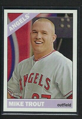 2015 Topps Heritage Short Print *** MIKE TROUT  SP # 500 MVP   MINT
