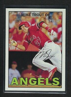 2016 Topps Heritage ACTION Short Print *** MIKE TROUT  Variation SP # 500   MINT