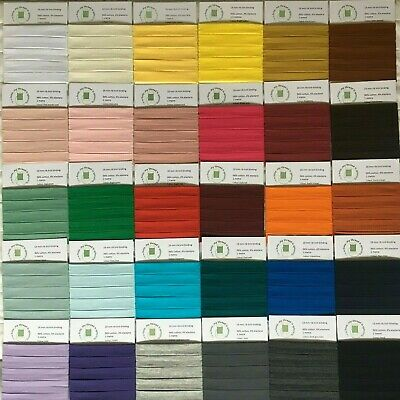 Rib knit cotton jersey stretch binding, 18 mm, 30 colours, 0.5 to 1.5 metres