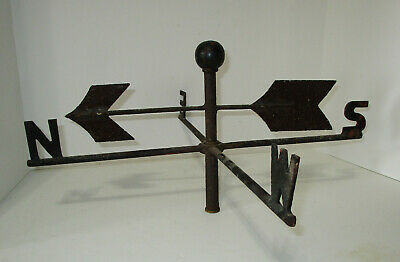 Antique Cast Iron Weather Vane Painted Black