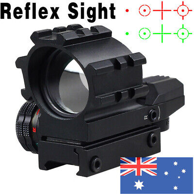 Red/Green Dot Reflex Optics Holographic 4 Reticles Projected Sight Scope Mount