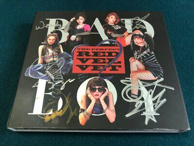 RED VELVET [BAD BOY]  Album Autograph ALL MEMBER Signed PROMO & FREE GIFT
