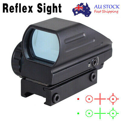 Tactical Adjustable Red/Green Holographic Reflex 4 Reticles Dot Sight Scope AU