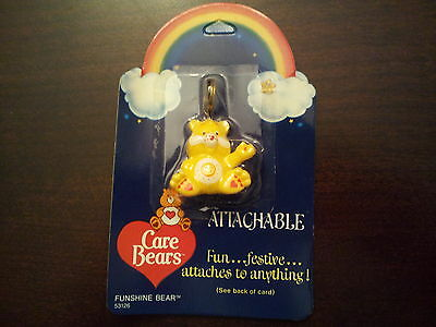 1984 Vintage Care Bears Figural Attachable Funshine Bear – Attaches to Anything!