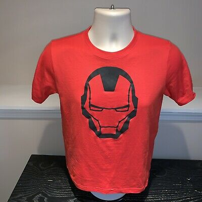 6c21f493 Under Armour Heat Gear Loose Iron Man Marvel Fitness T Shirt Youth Boys  Large