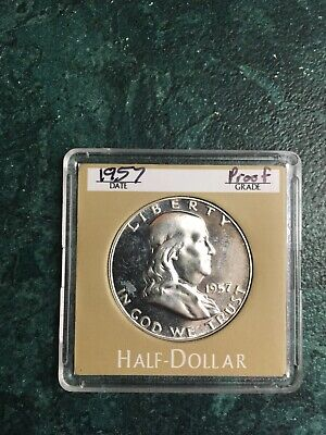 1957 impaired proof Franklin silver half dollar