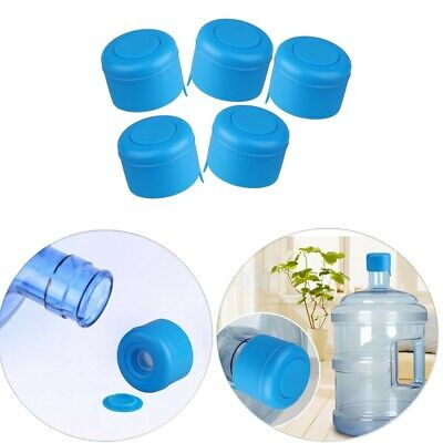 5Pcs reusable water bottle snap on cap replacement for 55mm 3-5 gallon wate GN