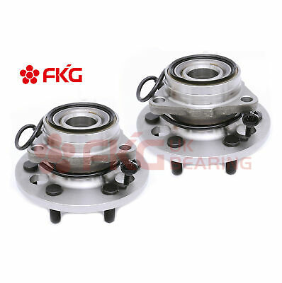 Front Wheel Hub Bearing Pair Set for Chevy K1500 Pickup Tahoe w/ ABS 4WD 515024