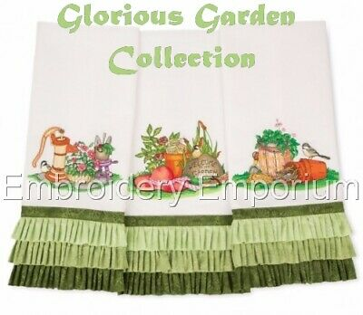 Glorious Garden Collection - Machine Embroidery Designs On Cd Or Usb