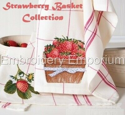 Strawberry Basket Collection - Machine Embroidery Designs On Cd Or Usb