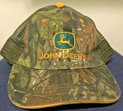 46d349d1ede78 JOHN DEERE  GREEN   Black Sport Mesh Back  Twill Cap Hat  brand New ...