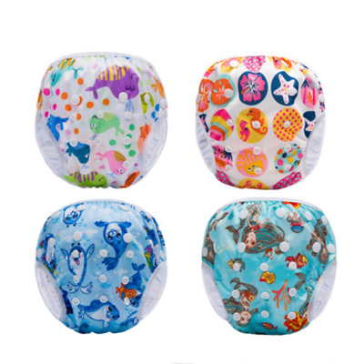 New Listed Cartoon Diaper Adjustable Swimming Baby Nappies Cloth Cover Hot 2019