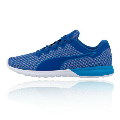 PUMA IGNITE S Speed 1000 Lace Up Blue Textile Mens Trainers