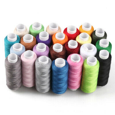 New 24 Spools Colour Finest Quality Sewing All Purpose 100% Cotton Thread Reel