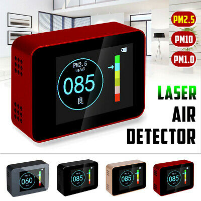 Laser Sensor PM10 PM1.0 PM2.5 Detector LCD Display Air Quality Pollution Tester