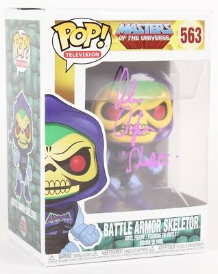 "Alan Oppenheimer Signed Battle Armor Skeletor Funko Inscribed ""Skeletor"" W/ COA"