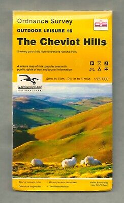 Ordnance Survey Outdoor Leisure Map 16: The Cheviot Hills (1995)
